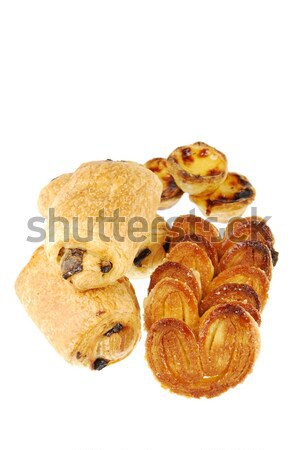 Tasty and delicious baked goods on white Stock photo © luissantos84