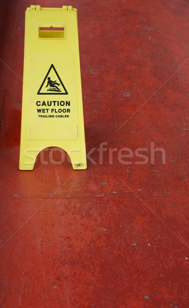 Wet floor sign Stock photo © luissantos84