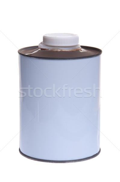 Kan witte geïsoleerd achtergrond schilderij staal Stockfoto © luissantos84