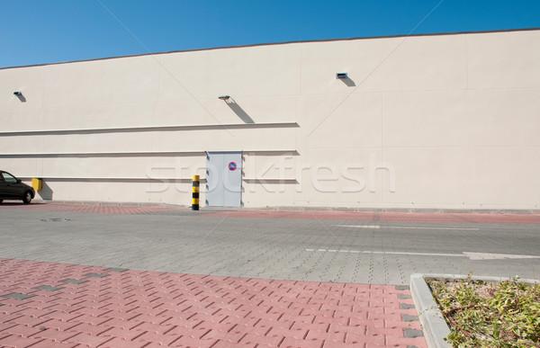 Przemysłowych magazynu widoku budynku przepiękny Zdjęcia stock © luissantos84