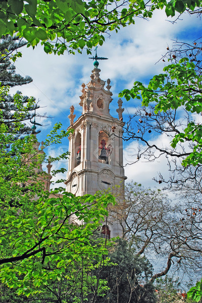 Bazilika Lizbon görmek Portekiz ağaç Stok fotoğraf © luissantos84
