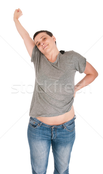 Exhausted casual woman Stock photo © luissantos84