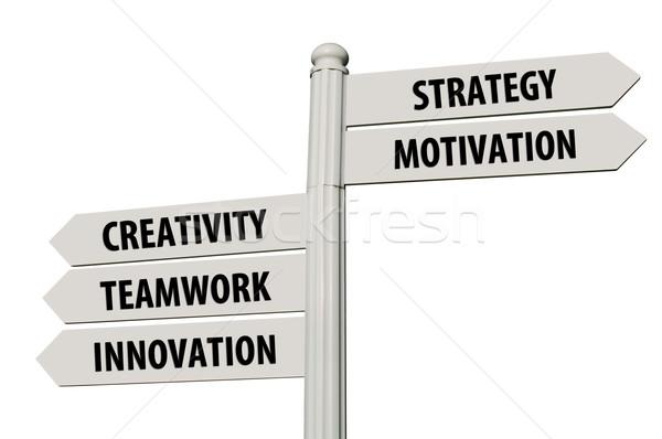 Business keywords signpost Stock photo © luissantos84