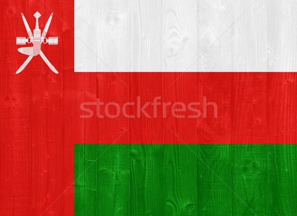 Umman bayrak boyalı ahşap Stok fotoğraf © luissantos84