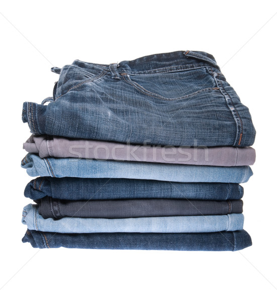 Сток-фото: джинсов · различный · изолированный · белый · свет