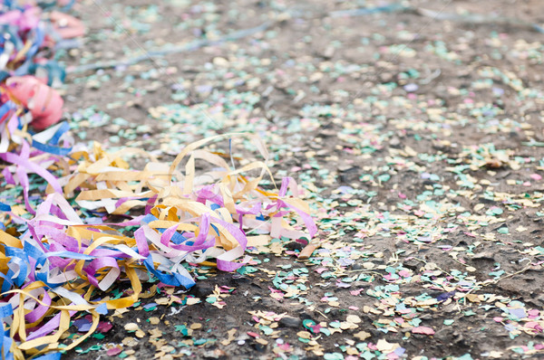 Confetti and streamers Stock photo © luissantos84