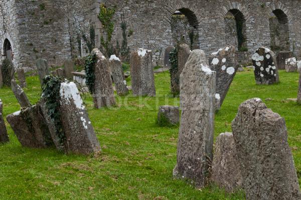 Santo cimitero chiesa città Irlanda tramonto Foto d'archivio © luissantos84