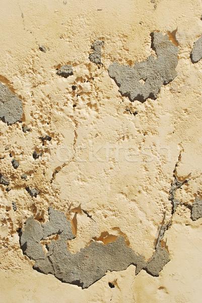 Amarelo parede grunge textura edifício luz Foto stock © luissantos84