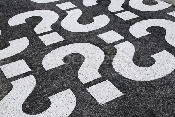 Stock photo: Question mark sign