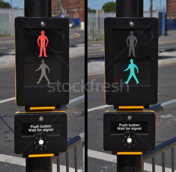 Pedestrian traffic lights Stock photo © luissantos84