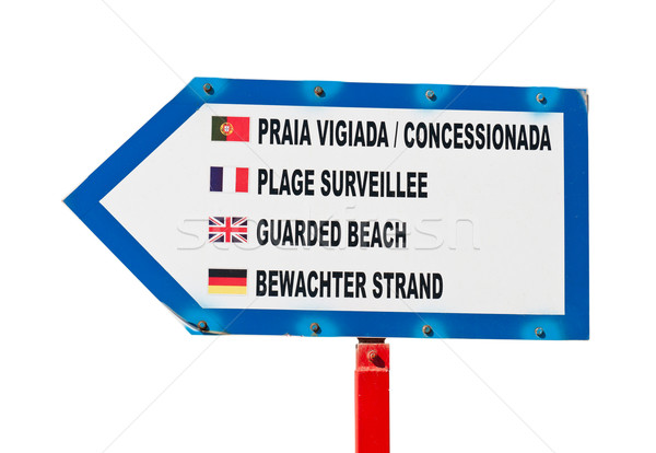 Guarded beach sign Stock photo © luissantos84