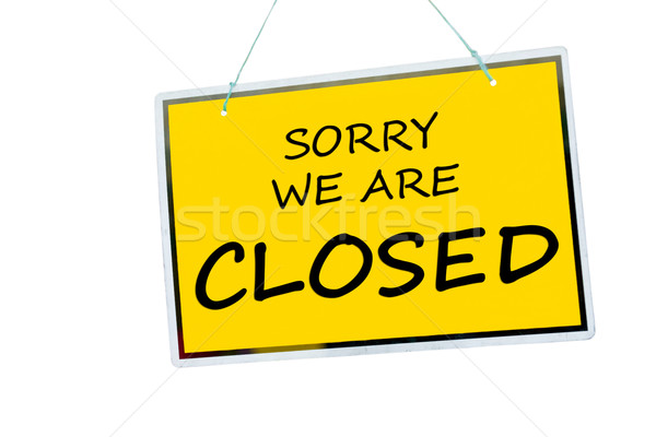 Stock photo: Closed sign