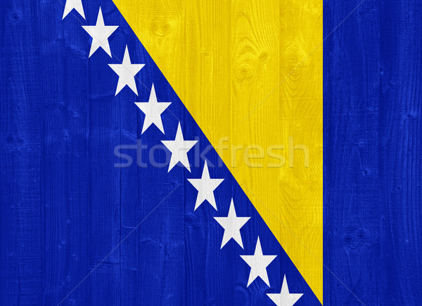 Bosnia Erzegovina bandiera magnifico verniciato legno Foto d'archivio © luissantos84