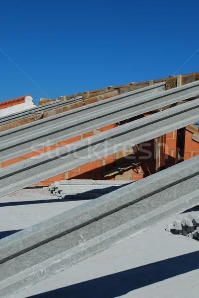 フレームワーク 屋根 家 建設 木材 作業 ストックフォト © luissantos84