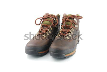 Hiking boots on white Stock photo © luissantos84