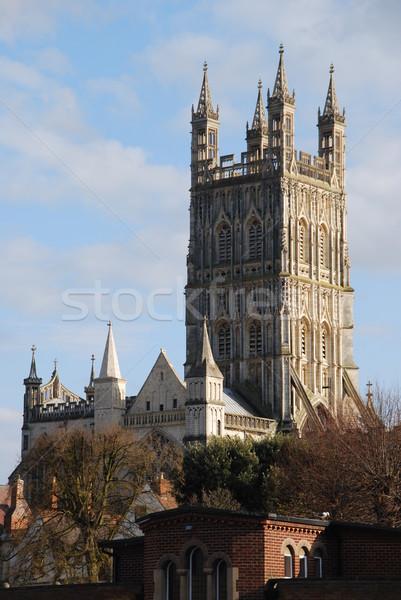 Cattedrale bella cityscape noto Inghilterra Regno Unito Foto d'archivio © luissantos84