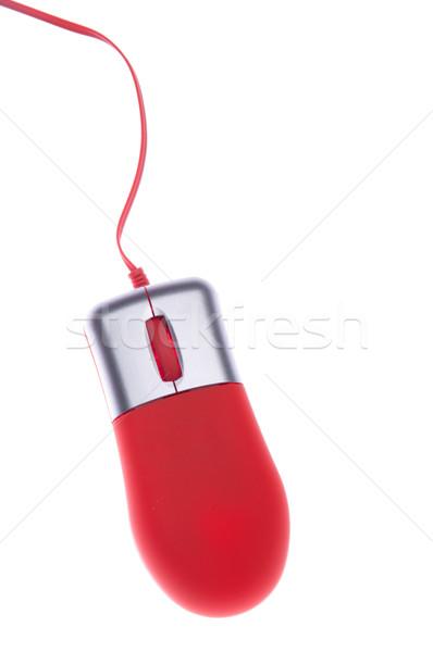 Mouse de computador pequeno laranja isolado branco escritório Foto stock © luissantos84