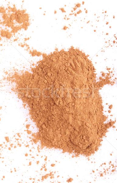 Cannella Spice polvere isolato bianco caotico Foto d'archivio © luissantos84