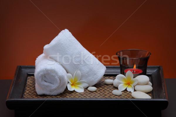 Toalha feliz estância termal Tailândia perfume Foto stock © lukchai