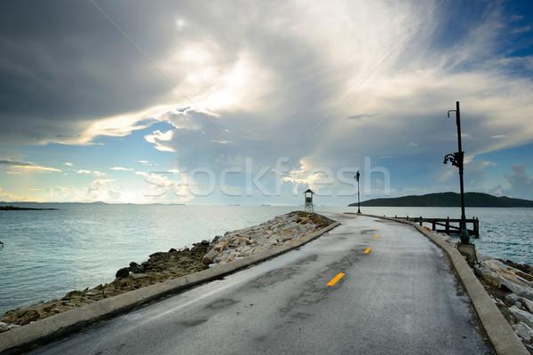 ösvény öreg nap szépség nyár óceán Stock fotó © lukchai
