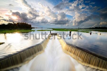 Dike ,Dam Stock photo © lukchai