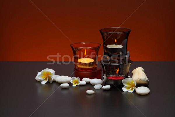 Vela feliz estância termal Tailândia massagem perfume Foto stock © lukchai