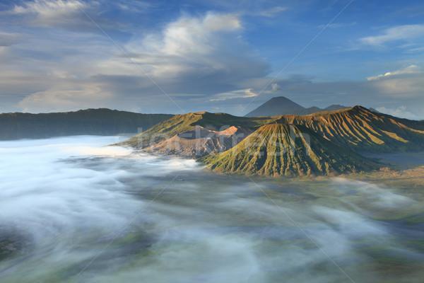Cennet trekking duman bulut panorama tırmanma Stok fotoğraf © lukchai