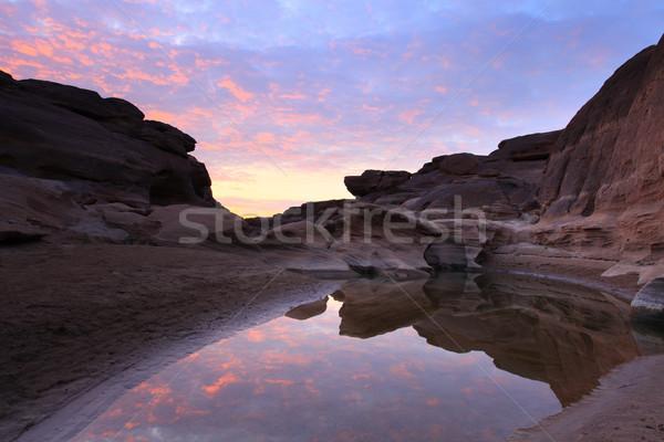 Desfiladeiro natureza paisagem rocha rio ver Foto stock © lukchai
