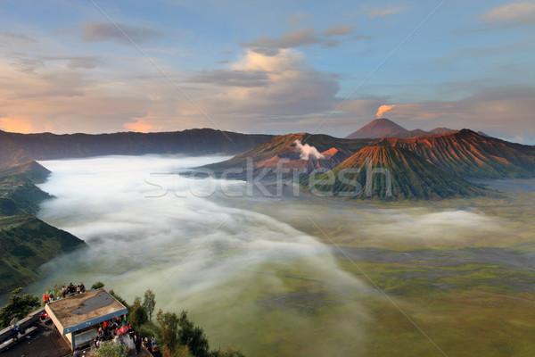 Paraíso fumar nuvem panorama escalada Foto stock © lukchai