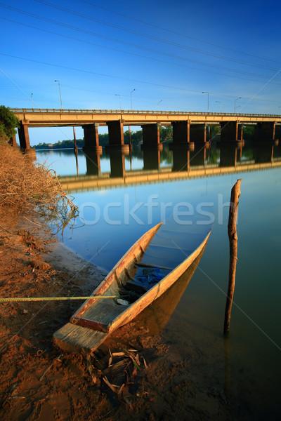 Tailândia pôr do sol natureza viajar barco Foto stock © lukchai