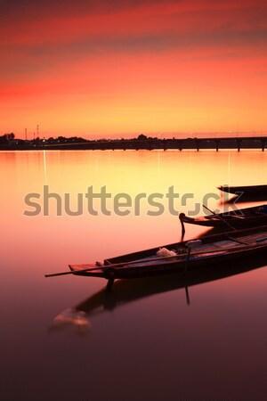 Tailândia pôr do sol paisagem mar viajar Foto stock © lukchai
