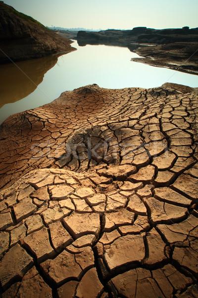 Secar terra solo textura terreno fundo Foto stock © lukchai