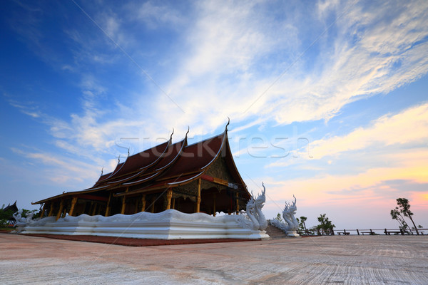 Templo pôr do sol viajar adorar arquitetura buda Foto stock © lukchai