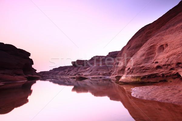 Desfiladeiro paisagem rio córrego ver cenário Foto stock © lukchai