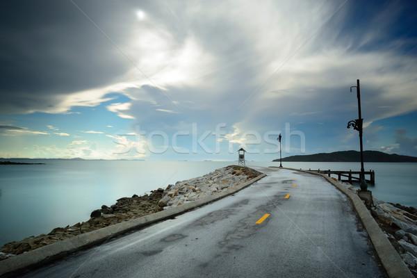 Caminho velho sol beleza verão oceano Foto stock © lukchai