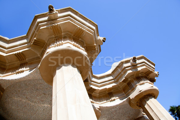 Hundred Columns Chamber Barcelona Park Guell Stock photo © lunamarina