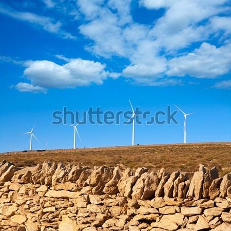 Elektrik duvarcılık kırsal duvar doğa Stok fotoğraf © lunamarina