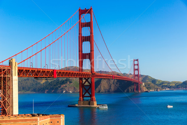 Golden Gate Bridge San Francisco Kalifornien USA Himmel Stadt Stock foto © lunamarina
