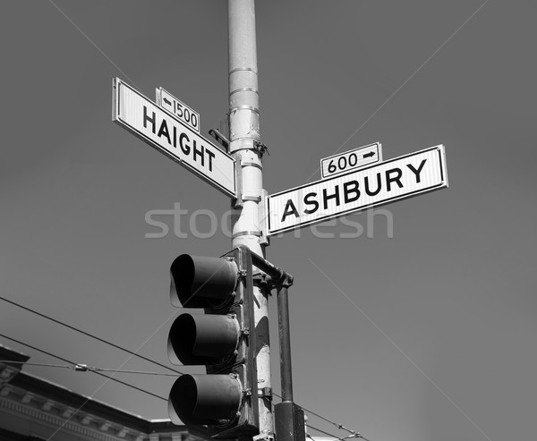 San Francisco Haight Ashbury street sign junction California Stock photo © lunamarina