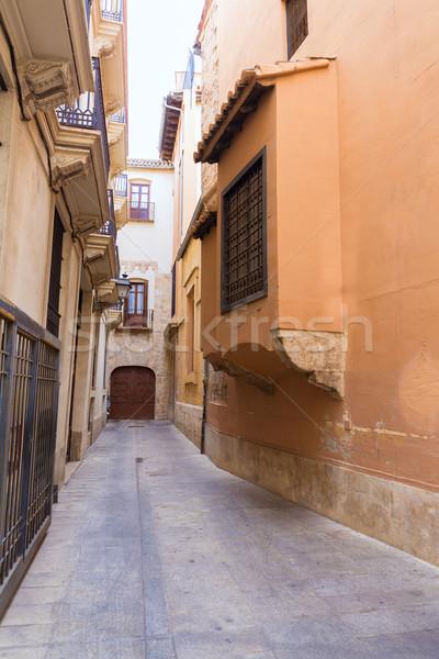 Valencia utca Spanyolország épület utazás építészet Stock fotó © lunamarina