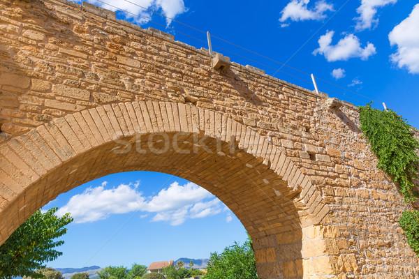 Barrio antiguo pared mallorca fortaleza isla España Foto stock © lunamarina