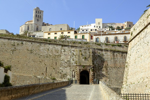 Ibiza castle from balearic islands in Spain Stock photo © lunamarina