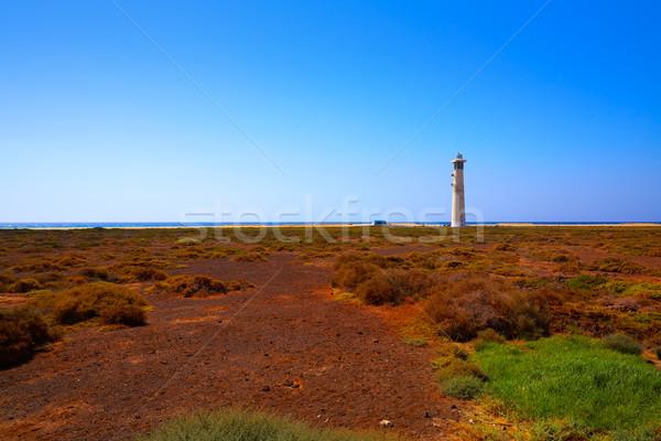 Morro Jable Matorral wetland Jandia in Pajara Stock photo © lunamarina