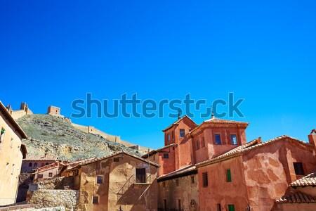 Foto stock: Medieval · cidade · Espanha · aldeia · parede · rua