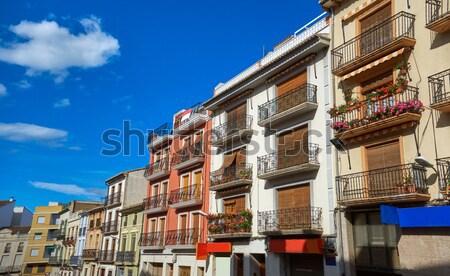 Valencia Casa Judia house Egyptian Castello street Stock photo © lunamarina