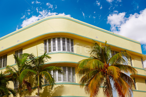 Miami Beach Ocean boulevard Art Deco Florida Stock photo © lunamarina