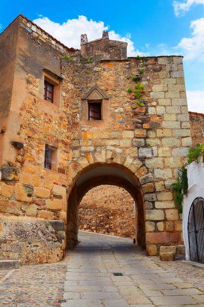 Stockfoto: Rivier · deur · Spanje · gebouw · stad · bouw