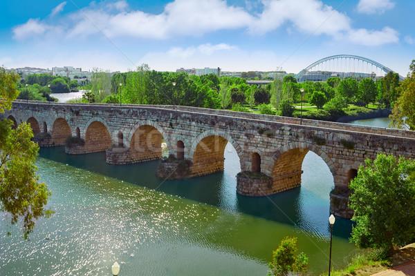 Merida in Spain roman bridge over Guadiana Stock photo © lunamarina