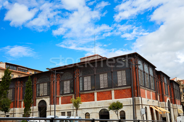 Central mercado céu azul pedra arquitetura Foto stock © lunamarina
