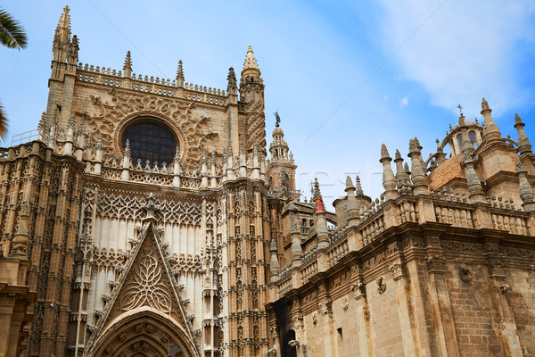 Cathédrale saint porte Espagne église Voyage Photo stock © lunamarina